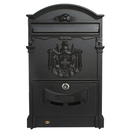 Почтовый ящик Amig-4, металлический, черный