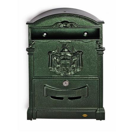 Почтовый ящик Amig-4, металлический, зеленый