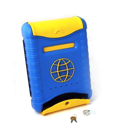 Почтовый ящик Стандарт, пластиковый, сине-желтый